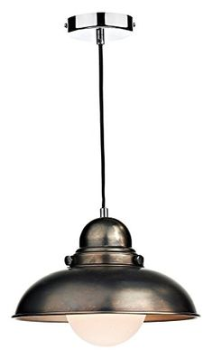 Dynamo 1 Light Bowl Pendant Finish: Antique Chrome The Shade Boutique http://www.amazon.co.uk/dp/B00A24UA5E/ref=cm_sw_r_pi_dp_i7Gowb0Y9RG04