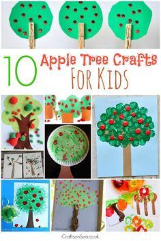 10 fabulous apple tree crafts for kids, loads of fun ideas to help celebrate…