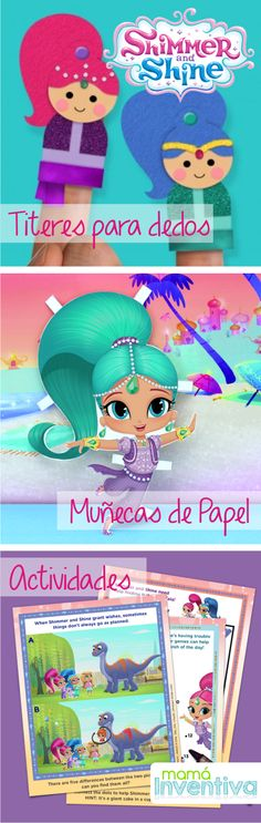 Manualidades De Shimmer and Shine - Crafts for girls Crafts For Kids To Make, Crafts For Girls, Craft Activities For Kids, Diy Arts And Crafts, Preschool Crafts, Diy Crafts, Children Crafts, Nick Jr, Science Projects
