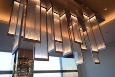 装飾アクリルパネル「Etoile Ice」施工事例/個室ダイニング内創作照明ライト/ザ・ブリンスギャラリー東京紀尾井町「WASHOKU 蒼天 SOUTEN」
