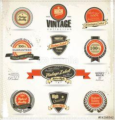 Vector: Premium quality labels