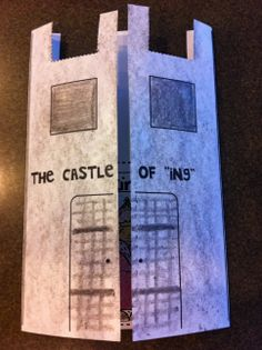 """The Castle of """"ing"""" - Interactive Foldable! Opens to show the King of """"ing"""" and 7 other """"ing"""" words. Learning fun for Kindergartners and First Grade too! $"""