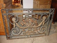 Antique Iron Gate from Provence, Circa 1850 6.5