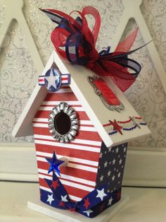 4th of JULY Independence Day Memorial Day  by BirdhouseGiftGallery, $15.00