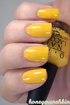 Swatches of OPI – So So Skullicious mini collection Yellow Nail Polish, Opi Nail Polish, Hot Nails, Fancy Nails, China Glaze, Halloween Nails, Bellisima, You Nailed It, Essie