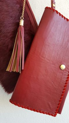 Wildstar Tassled Burgandy Clutch bag available Oct 2016