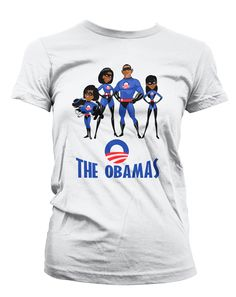 76bfb1bc050af2 Obamas as the Incredibles T-Shirt