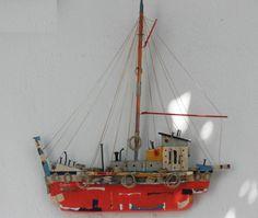Paros Souvenir Drift Wood Boat
