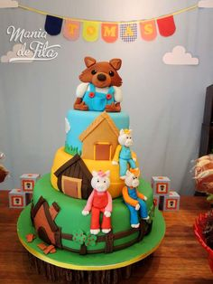 The Three Little Pigs Birthday Party Ideas Fairytale Birthday Party, Rapunzel Birthday Party, Leo Birthday, Farm Birthday, Birthday Parties, Birthday Ideas, Three Little Piggies, Little Pigs, Pig Party