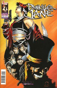 Painkiller Jane #3 - Cover Art: Joe Quesada & Jimmy Palmiotti [from Painkiller Jane #4] - Event Comics / Cult Comics, ottobre 2000