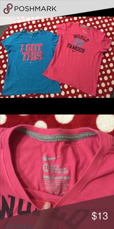 2 Blue & Pink Nike T-shirts Blue and pink Nike t-shirts both size XL Nike Tops Tees - Short Sleeve
