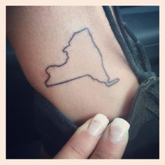 I've talked to my cousin about getting tattoos of the states we live in....I would get New York and she would get California. She however is no r quite ready to do it!