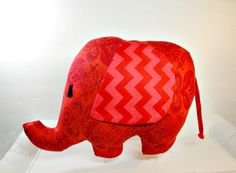 Elephants Toy Plushie  Unique Handmade Stuffed by BramCrackerBaby, $18.50