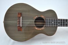 Tiger Myrtle Tenor Uke | Barron River Guitars & Ukuleles – 6 string tenor ukulele built with Tiger Myrtle and some 3,000 year old Sitka Spruce. Ebony fret board and Cocobolo trim. Gotoh mini tuners. – 2 of 4