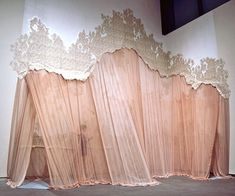 carlie trosclair- fabric installation, its so beautiful Stage Design, Set Design, Pattern Design, Writing Inspiration, Design Inspiration, Fabric Installation, Art Installations, Design Textile, Curtain Call