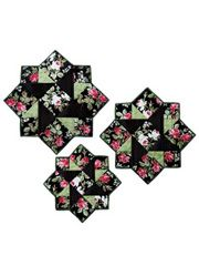 Stella Table Topper & Place Mat Quilt Kit or Pattern