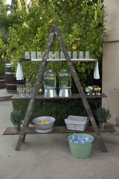 Make into a plant stand for the porch!