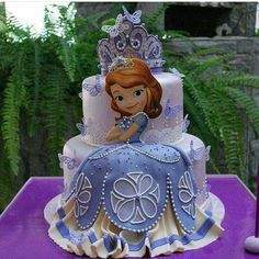 Torta para fiesta de princesa Sofia the First. #FiestaPrincesaSofia