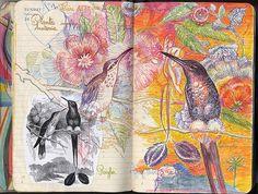 Illustrations on Moleskine notebooks by Laurevolume Artist Journal, Art Journal Pages, Art Journals, Books Art, Gcse Art Sketchbook, Sketchbook Inspiration, Sketchbook Ideas, Moleskine, Copics