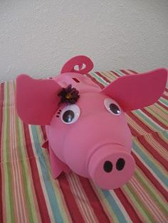 DIY Recycled project : Recycled Piggy Bank Tutorial