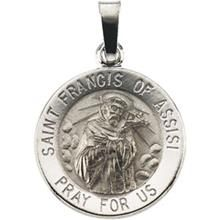 12 best saint francis of assisi images on pinterest francis of st francis of assisi round white gold pendant all patron saints aloadofball Choice Image