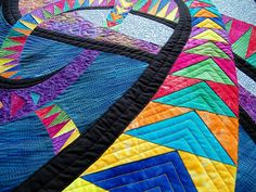 Quilted Wall Hanging Art Wall Quilt by thebutterflyquilter on Etsy, $165.00  based on design by Caryl Bryer Fallet