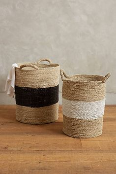 Banded Seagrass Baskets