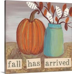 "Fall has arrived! Decorate your walls with contemporary Fall wall art. See more of  ""Fall in Love"" by Katie Doucette at CanvasOnDemand.com"