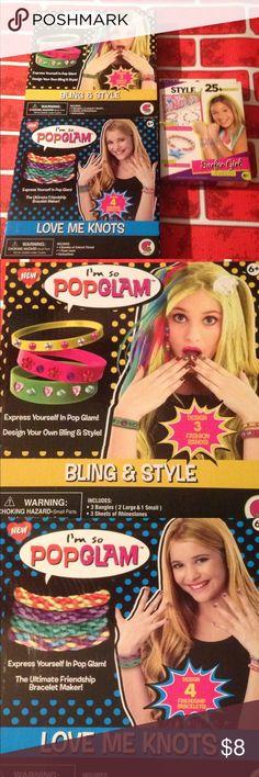 3 set Girls jewelry kits bracelets 3 jewelry making kits. Ages 6+ Accessories
