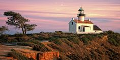 This picturesque San Diego lighthouse operated for only 36 years. Built in 1855, it was decommissioned in 1891 after its location proved too foggy to show its beam.   - CountryLiving.com