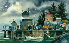 Lobster Season, Deer Isle Maine, c. 1992 – California Watercolor