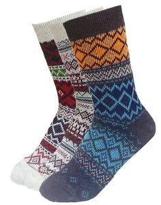 Stretchy Woven Knit Christmas Crew Length Socks – JJMaxUS