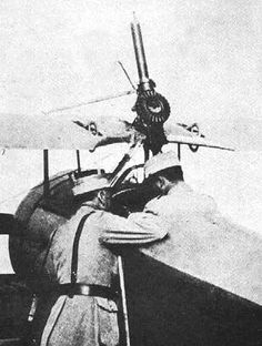 Nieuport 11 armed with a Lewis Gun mounting.
