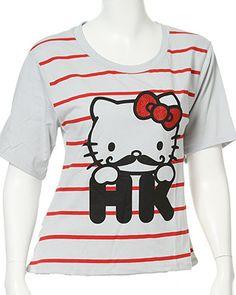 rue21 Hello Kitty Mustache tee. $14.99