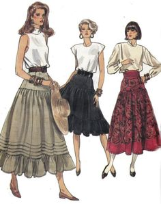 80s Vintage Sewing Pattern Vogue 9954 by allthepreciousthings