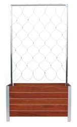 Plantesr Trellis insert - stainless steel mesh and aluminum tubing