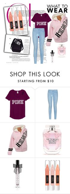 """""""pink"""" by badwitch-69 on Polyvore featuring 7 For All Mankind and Victoria's Secret"""