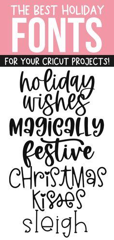 Holiday Fonts, Christmas Fonts, Christmas Cards, Fancy Fonts, Cool Fonts, Winter Fonts, Cricut Explore Projects, Pretty Fonts, Cricut Craft Room