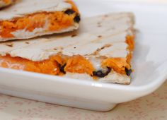Vegan Sweet Potato & Black Bean Quesadillas