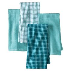 Good Assorted Aqua Kitchen Towels  Set Of 4.Opens In A New Window