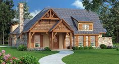 House Plan 65979 | Craftsman Plan with 1292 Sq. Ft., 3 Bedrooms, 2 Bathrooms, 2 Car Garage