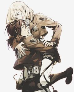 They're so cute   Attack on Titan   Ymir   Christa
