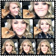 Carrie with Penny... So cute! :)