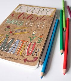 On The Surface: OOAK Hand Drawn Moleskines - To list, or not to li...