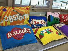 giant candy sculptures for our breakfast with the arts program on friday.  only our third grades participate in this and they also put on a musical performance.  this years theme is food.  third grade is tough bunch this year so this is pretty good for them.  they had to work in pairs though to get them done.