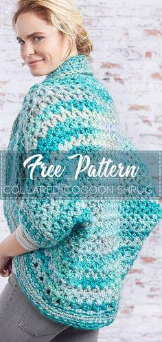 20 super Ideas for crochet patterns free shrug ganchillo Knit Shrug, Crochet Poncho, Easy Crochet, Free Crochet, Irish Crochet, Crochet Wraps, Crochet Sweaters, Crochet Cocoon Pattern, Crochet Square Pattern