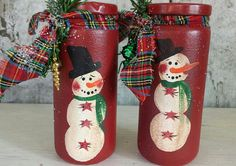 Snowman Jar Primitive Snowman Primitive Snowmen by FlatHillGoods