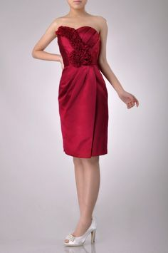 Sweetheart Strapless Knee Length Cocktail Dress Price : $199.99 Free Shipping!