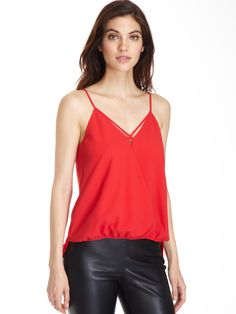 cooper & ella Ivy Detail Cami in Deep Red. Turn heads with this flirty tank with a fun silhouette that will keep you dancing all night long #cooperandella