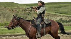 """Anson Mount plays Cullen Bohannon, the hero in AMC's """"Hell on Wheels"""".another Western series that's addictive and really well-done. Anson Mount, Hell On Wheels, Into The West, English Riding, Western Movies, The Real World, Season 4, Beautiful Horses, Cinematography"""